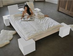 Beautiful Double bed Bed by Wissmann raumobjekte