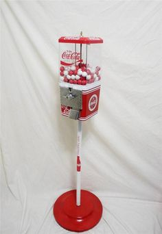 vintage Komet COCA COLA gumball machine +stand