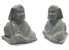basalt sphinx bookends