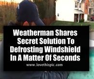 Weatherman Shares Secret Solution To Defrosting Windshield In A Matter Of Seconds