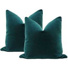 """22"""" Mohair Velvet Pillows in Teal - A Pair (1,235 SAR) ❤ liked on Polyvore featuring home, home decor, throw pillows, pillows, teal toss pillows, velvet accent pillows, set of 2 throw pillows, teal throw pillows and teal home decor"""