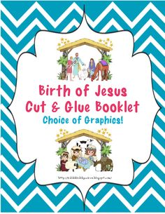 Bible Fun For Kids: Birth of Jesus Cut & Glue Mini Book for Preschool