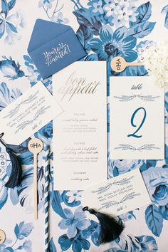 Photography : Katie Stoops Photography | Wedding Venue : The Inn At Perry Cabin | Stationery : Danielle Herrold Design Read More on SMP: http://www.stylemepretty.com/little-black-book-blog/2016/04/22/this-sapphire-ring-kicked-off-one-beautiful-blue-party/