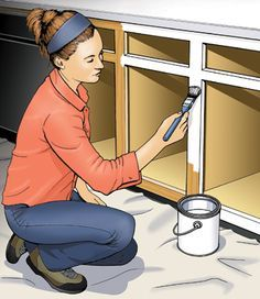 How to Paint Kitchen Cabinets Painting Kitchen Cabinets Tutorial. Since this big project is in my near future…I'll be glad I pinned all the help I could find! Do It Yourself Videos, Do It Yourself Home, Kitchen Paint, Kitchen Redo, Kitchen Ideas, Painting Kitchen Cupboards, Kitchen Themes, Kitchen Makeovers, Cheap Kitchen