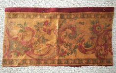 Lovely Antique French Silk Mohair Velvet Fabric Roses by RuinsCa