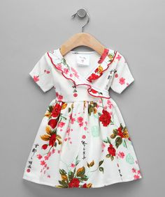 Ahhhh I love this dress! I wish it came in my size:) Girls Dresses Sewing, Little Girl Dresses, Girl Fashion, Fashion Dresses, Surplice Dress, Diy For Girls, Baby Dress, Kids Outfits, Short Sleeves