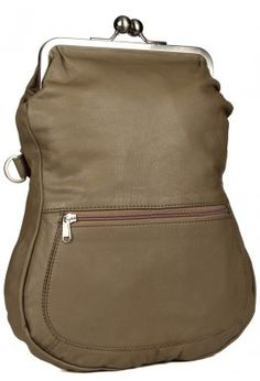 LEATHER WITH CLASP CLOSURE (TAUPE)