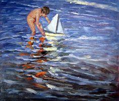 Haciendo navegar el velero