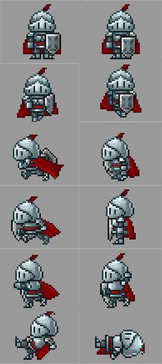 https://dribbble.com/shots/2080867-Knight-Pixel-Game-Character