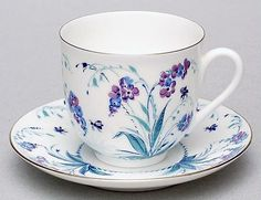 russian tea cup and saucer | ... about Lomonosov Porcelain Blue Tiny Forget Me Not Bone China Tea