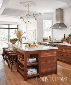 Modern Walnut Kitchen Cabinets Design Ideas 42 12 Lovely Rustic Kitchen decor you might build for your home Rustic Kitchen Design, Home Decor Kitchen, Vintage Kitchen, New Kitchen, Kitchen Ideas, Kitchen Wood, Kitchen White, Awesome Kitchen, Kitchen Modern
