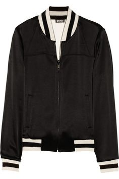 DKNY - Reversible satin bomber jacket - €627.90 - LOVE the reversible things !! impression to buy TWO for the price of one ! ;-)