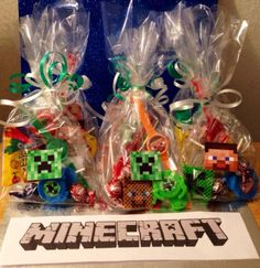 12 Filled Minecraft Party Favor Gift Bags Birthday Toys Loot Goody Treat Piñata | eBay