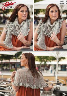 Romantic summer shawl.