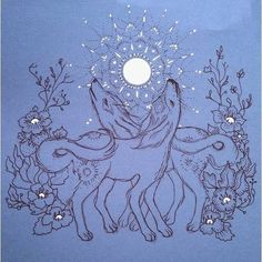 Two mutts howling at the moon sketch lepen gouache - explore Illustration Art Drawing, Art Drawings, Illustrations, Moon Sketches, Amy Sol, Art Love Couple, Howl At The Moon, Art Friend, Girl Sketch