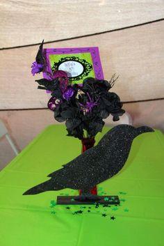 Maleficent Themed Birthday centerpiece Birthday Centerpieces, Birthday Party Themes, Maleficent Party, Malificent, Descendants, Aurora, Party Ideas, Halloween, Disney