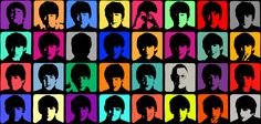 I am using this colorful graphic of The Beatles in the new Barbie DREAM HOUSE re-model of a TV & Music room --- framed and placed among other iconic musical artists ...