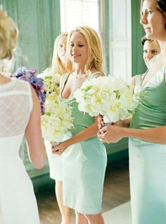 Great for Spring and Summer Weddings Mint green colors are fresh and soft