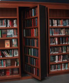 I want a secret door to a secret room. Preferably in the library.