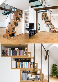 50 Creative Ways To Incorporate Book Storage In U0026 Around Stairs · Bookshelf  IdeasBook ...