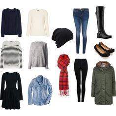 A fashion look from April 2014 featuring black dress, chambray shirt and cashmere sweaters. Browse and shop related looks.