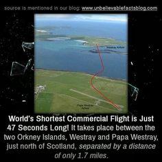 World's Shortest Commercial Flight