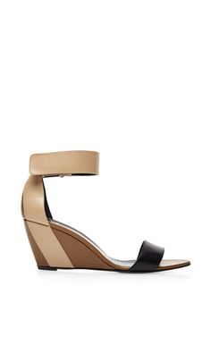 Pierre Hardy - Color-Block Leather Wedge Sandals