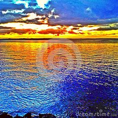 Sunset. Firey Reflections - Download From Over 26 Million High Quality Stock Photos, Images, Vectors. Sign up for FREE today. Image: 44487654