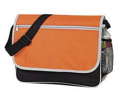 Poly Briefcase Messenger Book Bag, Orange by BAGS FOR LESS™ *** Be sure to check out this awesome product. (This is an Amazon Affiliate link and I receive a commission for the sales)