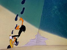 Daffy Duck as Duck Twacy   The Great Piggy Bank Robbery (1946), a Warner Bros. cartoon directed by Bob Clampett