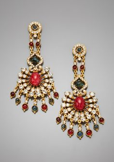 Blood Red Chandelier Earrings - Scarlet Red Gothic Ornate Floral ...