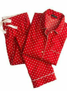Crew - Pajama set in polka-dot flannel a61a3116d