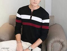 Checkout this latest Tshirts Product Name: *Trendy Retro Cotton Men Tshirts* Fabric: Cotton Sleeve Length: Long Sleeves Pattern: Colorblocked Multipack: 1 Sizes: S (Chest Size: 37 in, Length Size: 26.5 in)  M (Chest Size: 39 in, Length Size: 27 in)  L (Chest Size: 40 in, Length Size: 27.5 in)  XL (Chest Size: 42 in, Length Size: 28 in)  XXL (Chest Size: 44 in, Length Size: 28.5 in)  Country of Origin: India Easy Returns Available In Case Of Any Issue   Catalog Rating: ★4.1 (9527)  Catalog Name: Trendy Retro Cotton Men Tshirts CatalogID_771755 C70-SC1205 Code: 792-5213827-576