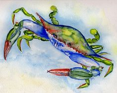 Choose your favorite crab watercolor paintings from millions of available designs. All crab watercolor paintings ship within 48 hours and include a money-back guarantee. Crab Painting, Watercolor Paintings For Sale, Watercolor Fish, Watercolor Jellyfish, Crab Tattoo, Crab Art, Coastal Art, Beach Art, Art Prints