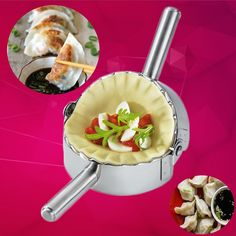 Gyoza / Dumpling Maker - Making dumplings can be tedious and time consuming since you have to fill and press each one by hand, but this little gadget speeds up the process for you. No more soggy takeout dumplings!