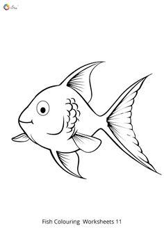 Free Downloadable Fish Worksheets for kids. Fish Coloring Page, Colouring Pages, Coloring Sheets, Worksheets For Kids, Goldfish, Free Printables, Moose Art, Parenting, Names