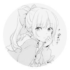 💗💗 Blonde Anime Girl, Anime Art Girl, Manga Girl, Anime Oc, Anime Demon, Manga Anime, Desu Desu, Anime Profile, Cute Chibi