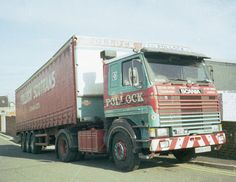 """A 1984 reg member of the Pollock fleet named """"Nordic Invader"""". Old Lorries, Vintage Trucks, Cool Trucks, Rigs, Cars And Motorcycles, Race Cars, British, Classic, Vehicles"""