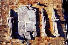 Large Egyptian statues found underwater