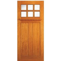 AAW Inc. AC-703-DB Arts & Crafts Doors Brazilian Mahogany Arts and Crafts Door with Dual Glazed Tempered Glass