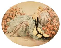 belle rose, louis icart