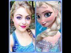 Disney's Elsa makeup tutorial
