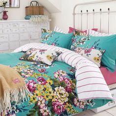 Joules Floral Jade Green Bedding | Cambridge Floral at Bedeck Home