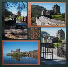 I love this travel scrapbook layout of these Scottish castles! I like to make scrapbook pages without all the clutter and want my photos to be the main focus. Mosaic Moments scrapbooking is perfect for that! Click to see tips & ideas for this kind of scrapbook page.