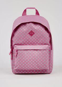 Girls Glitter Spot Backpack (One Size). Matalan c329fd48a3
