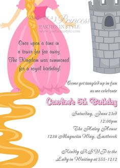 princess birthday invite