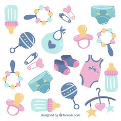 Baby elements background with cute toys and clothes Free Vector Dark Blue Background, Geometric Background, Textured Background, Vector Background, Abstract Paper, Blue Abstract, Dibujos Baby Shower, Scrapbook Bebe, Moldes Para Baby Shower