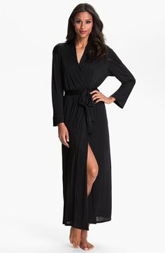 Need this now - except maybe in scarlet.. trying to add color to my wardrobe. Natori 'Aphrodite' Long Robe available at #Nordstrom