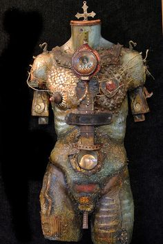 Artist Michael DeMeng created this sculpture which is both erotic and steampunk at the same time Art Antique, Art Vintage, Art Mannequin, Art Nouveau, Assemblage Art, Recycled Art, Medium Art, Mixed Media Art, Sculpture Art