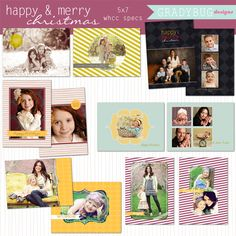 Happy Christmas Holiday Cards  Gradybug Designs    #GradybugDesignsPinToWin
